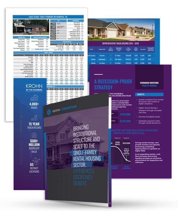 krohn consortium brochure open with example images